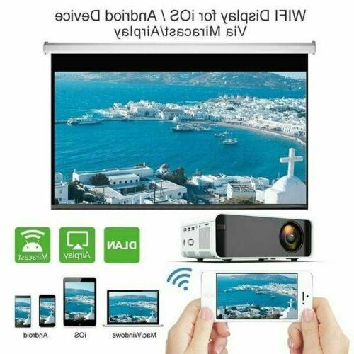 LED Projector BT 1080p FHD Movie US