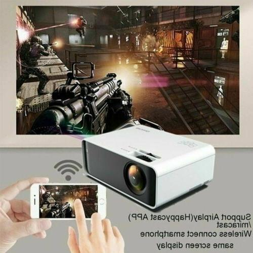 LED Smart Theater Projector 4K Movie HDMI USB US