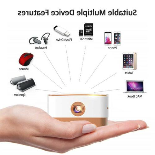 Wireless BT Android 7.1 Smart Projection Home 4K Movie
