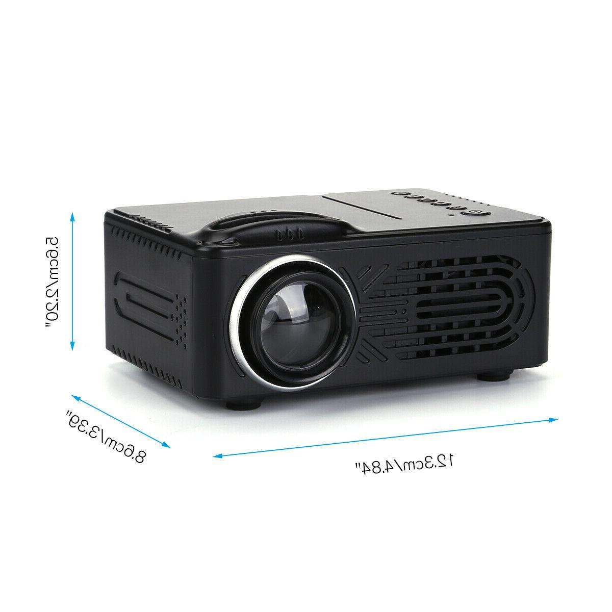 Mini HD 1080P Portable Video Movie Home Theater HDMI