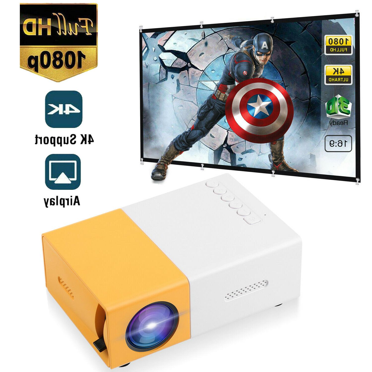 mini led projector full hd 1080p portable