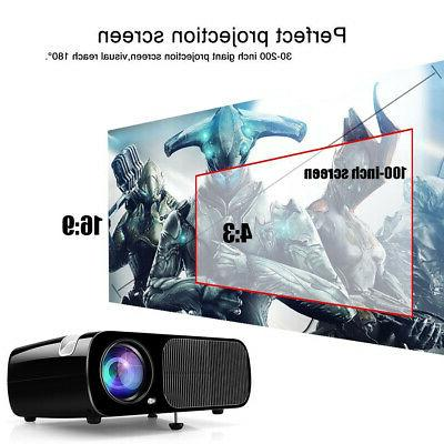 Mini LED Smart Home Theater Projector Video