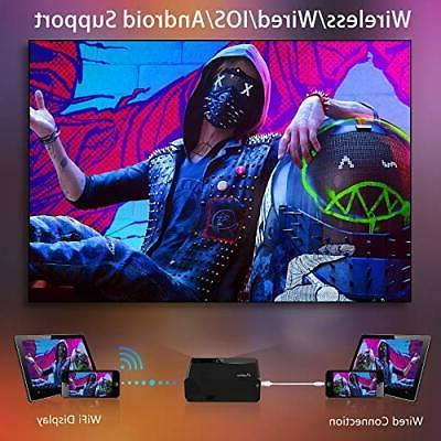 Mini Projector for 2020 WiFi Movie with Black