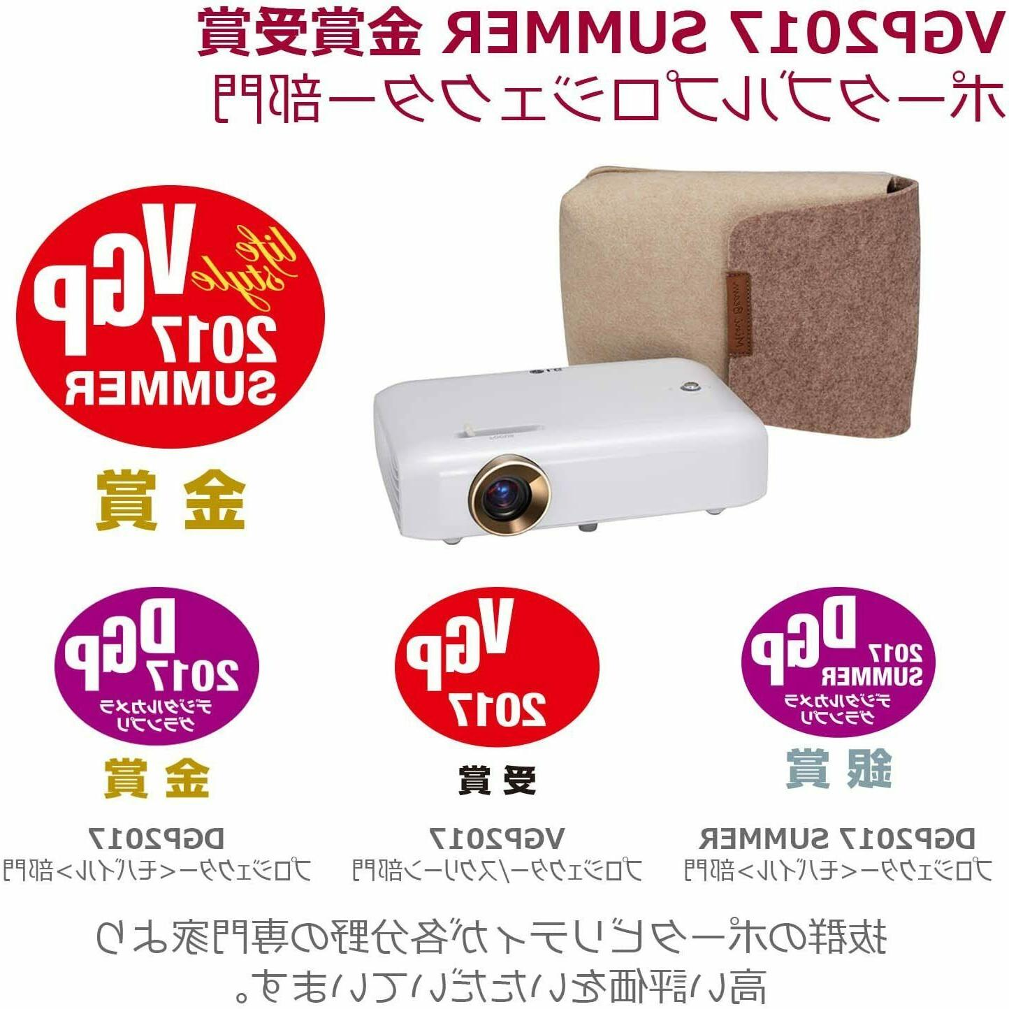 LG PH550G Portable Projector Life /Hd/550Lm On