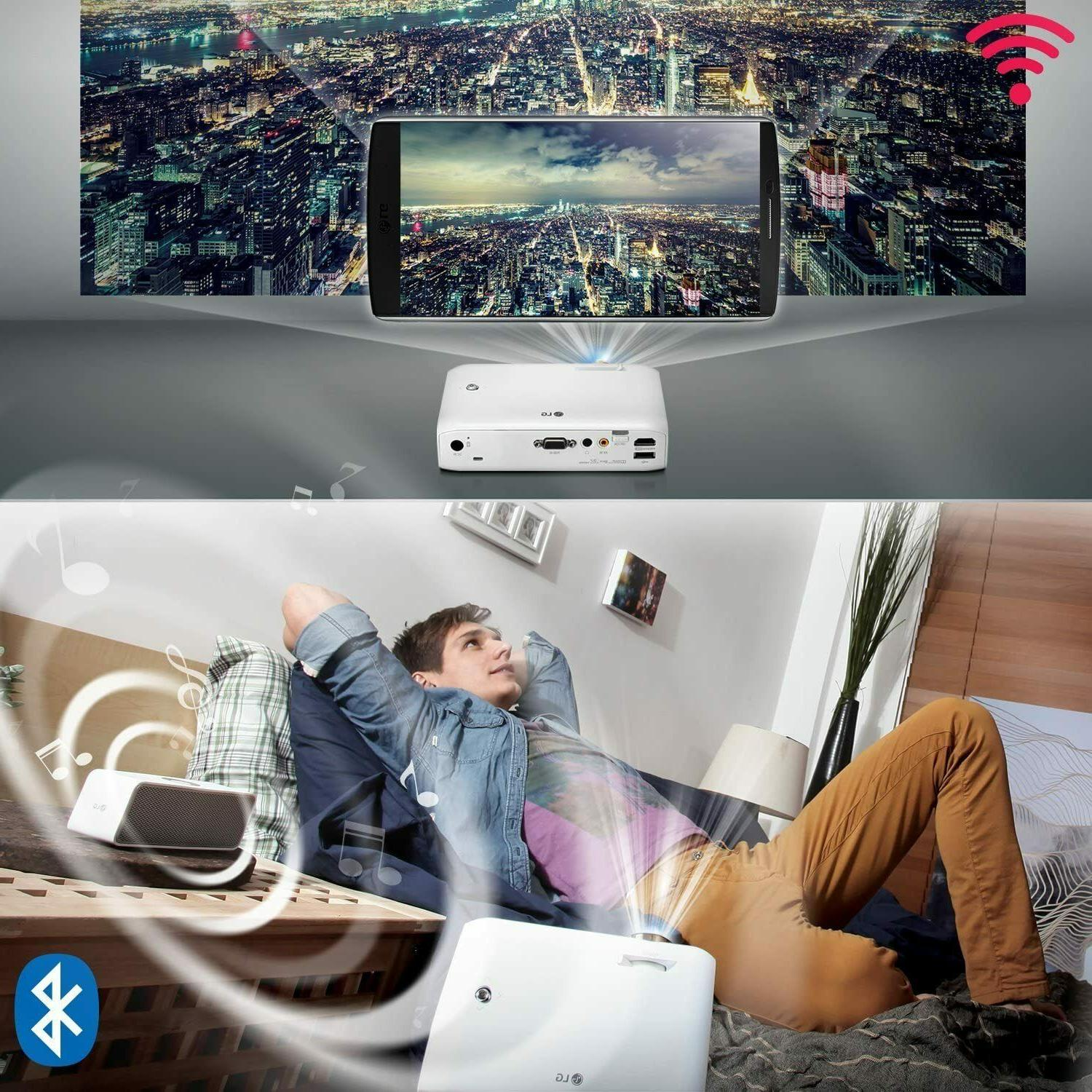 LG LED Projector Life 30000 /Hd/550Lm On