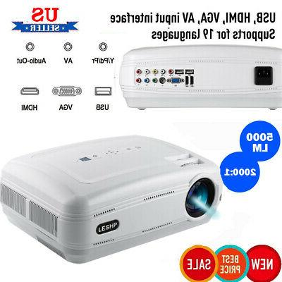 5000 lumens LED 3D 4K HD 1080P Projector Multimedia Home The