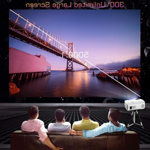 Projector, GooDee BL98 Native 1080P HD Video Touch Keys