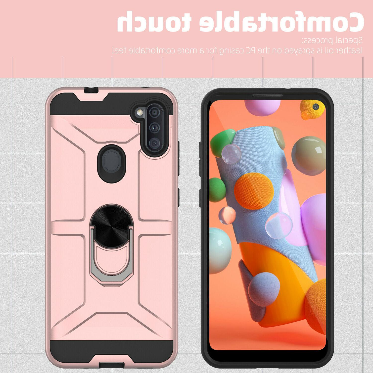 Case, Kickstand Cover + Tempered Glass Protector