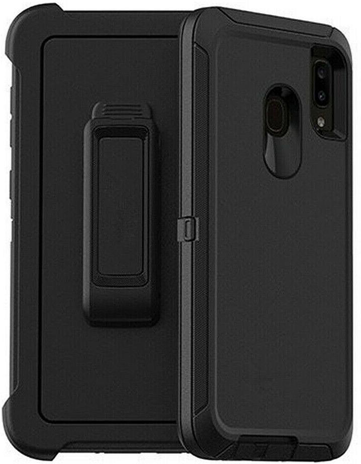 For Galaxy A20 Case Stand Cover+Screen