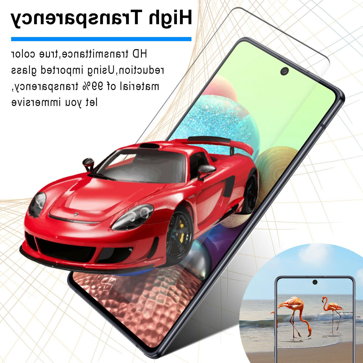 For Samsung Galaxy A71 A51 5G Case Ring Phone Cover/Screen Protector