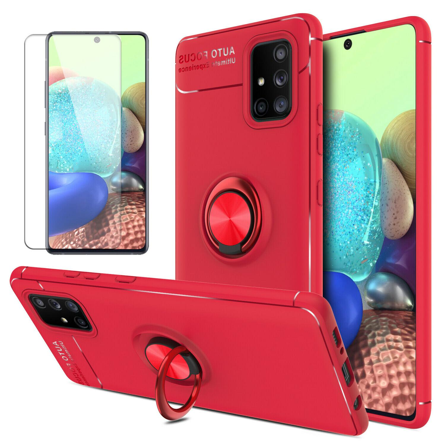 For Samsung Galaxy A51 Case Ring Phone Protector