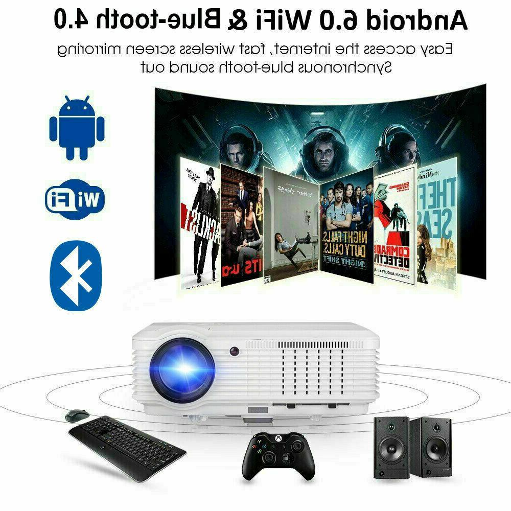 Smart Android Projector 1080p HDMI USB