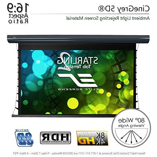 Elite Screens Starling 2 CineGrey 16:9, 8K 4K HD Ceiling and Ambient Light Projector Projection Material, STT135UHD5-E6