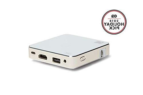 Projector 1080p LED DLP Pico Projector Display, Built-in Speaker - USB SD – iPad, & Devices