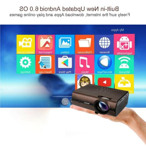 4K Wireless LED Android BT HD Smart Home Theater 8GB