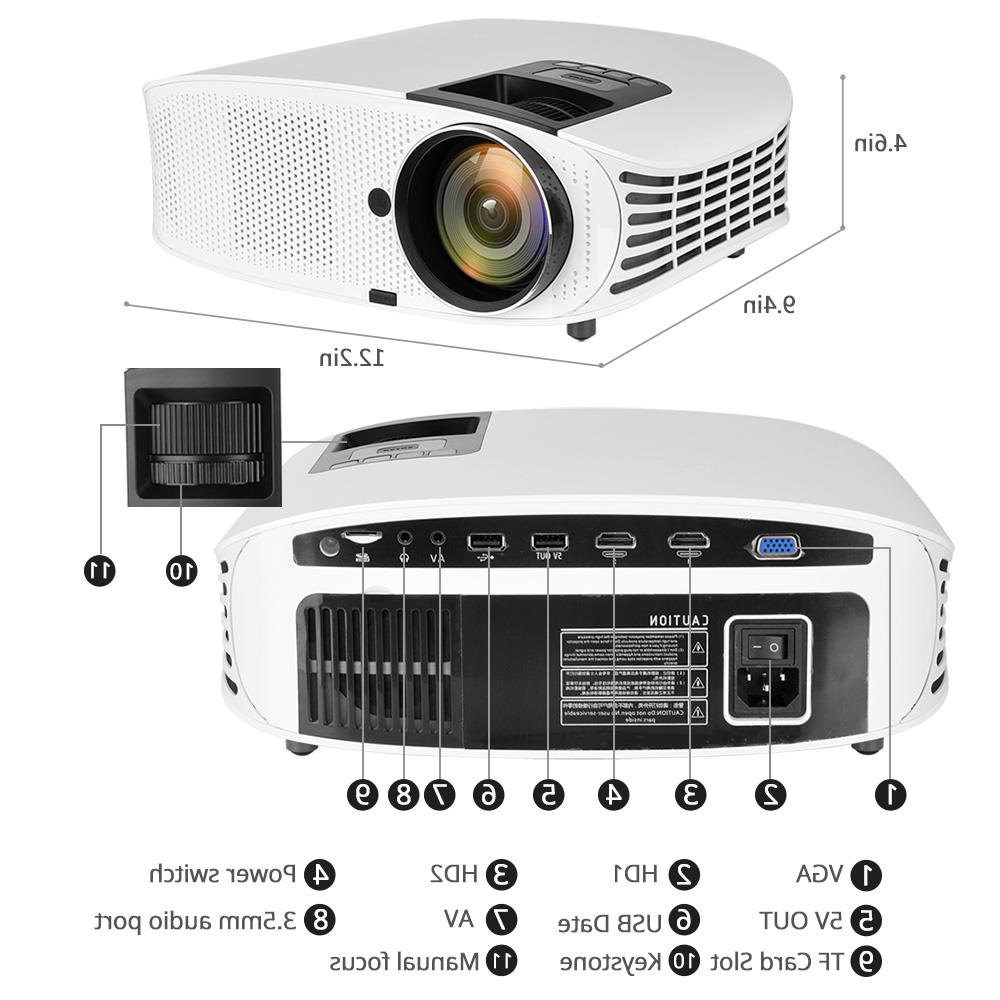 AAO YG600 4000 Lumens LCD Support HD 1080P Home USB 3D LED