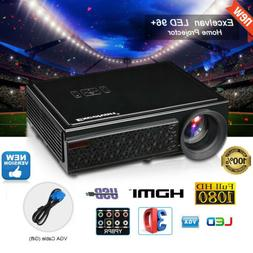 LED LCD Video Projector 1080P Full HD 5000 Lumens 3D Home Vi