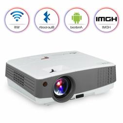 LED Portable HD Wireless Bluetooth Projector Airplay HDMI fo