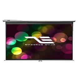 Elite Screens Manual, 84-inch 16:9, Pull Down Projection Man