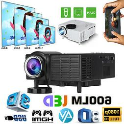 Mini 1080P Portable Pocket Projector Movie Video Projectors