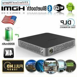 Mini Pocket Android Wifi HD 4K Projector DLP Cinema Ios Airp