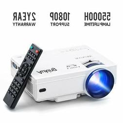 Mini Projector 2019 Upgraded Portable Video-Projector,55000