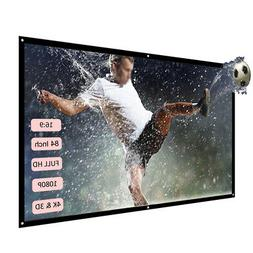 """Movie 84"""" Projector Screen 16:9 Video Projection Office Home"""