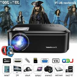 """Native 1080P HD 7000 Lumens LED Projector Home Theater 200"""""""