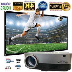 native 1080p projector support 4k 5500 lux