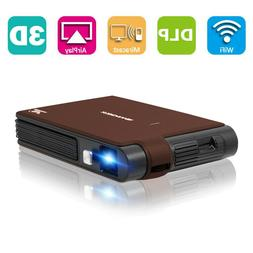 Pico Size 3D WiFi Projector Meeting Home Theater Presentatio