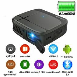DLP Smart Android Projector BT 1080P HD WIFI Meeting Present