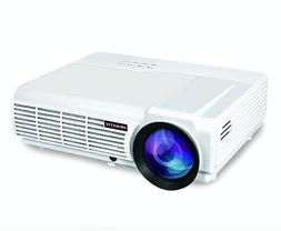 PRAVETTE Projector Full HD Video/1080P Movie, Home Audio/LCD