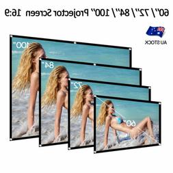 Projector Screen 60'' 72'' 84'' 100'' Home Theater Outdoor 3
