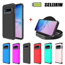 For Samsung Galaxy S10 Plus S10+ Armor Case Cover+Wireless F