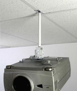 ALZO Short Suspended Drop Ceiling Video Projector Mount with