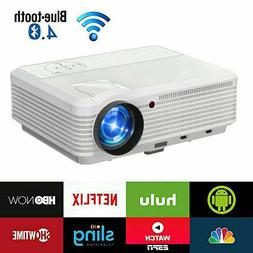 Smart Android 6.0 Wifi Projector Home Theater BT 1080p Video