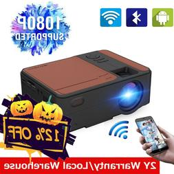 Smart HD Android Projector Wifi Blue-tooth Home Theater Vide