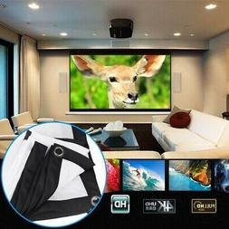 Soft White Screen Home Movie Picture PPT Projector Portable