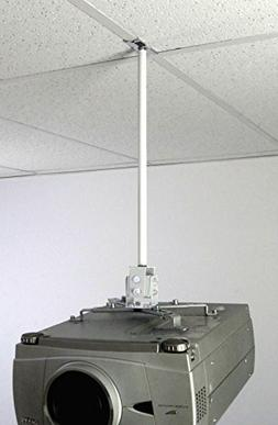 ALZO Suspended Drop Ceiling Projector Mount with Scissor Cla