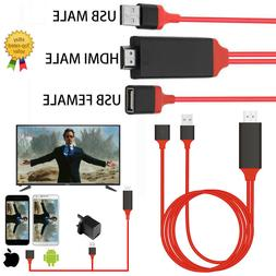 USB to HDMI TV Adapter HD 1080 OTG MHL Charger Cable for iPh